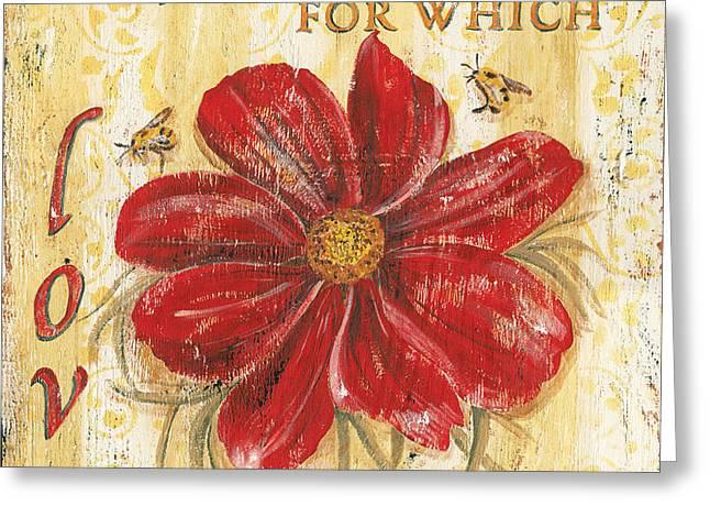 Life is the Flower Greeting Card by Debbie DeWitt