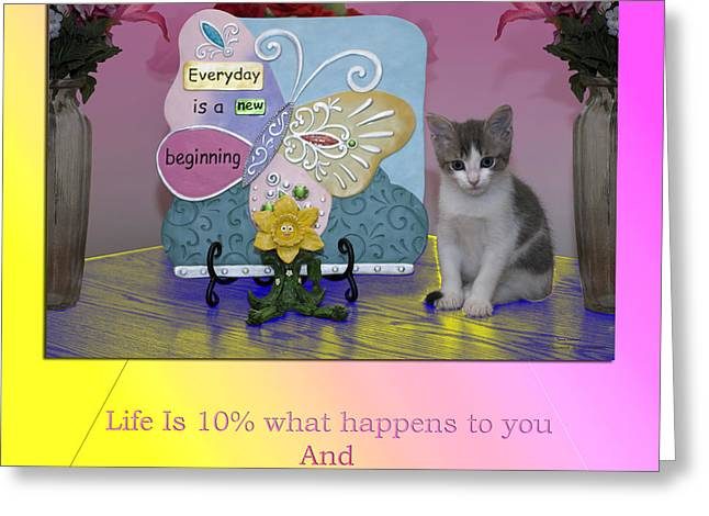 Motivational Poster Greeting Cards - Life Is Understanding Everyday Is A New Beginning Greeting Card by Thomas Woolworth