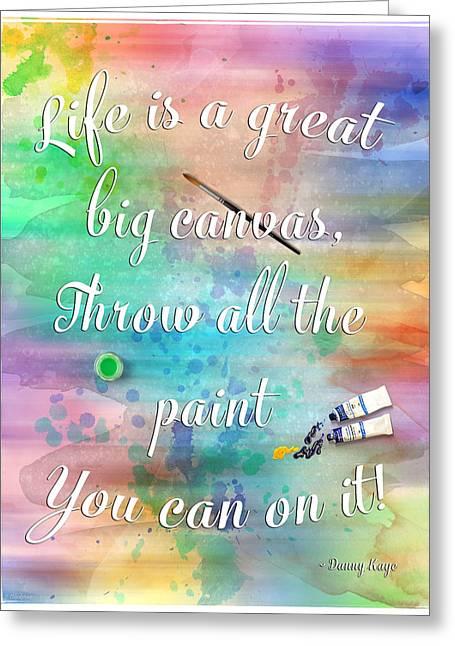 Life Is... - Watercolor Art Greeting Card by Jordan Blackstone