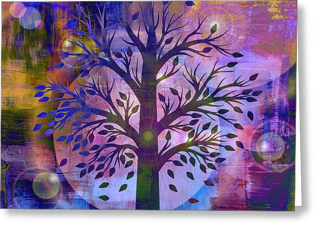 Mystic Art Greeting Cards - Life Greeting Card by Lisa S Baker
