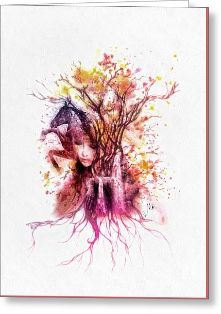Living Beings Greeting Cards - Life Greeting Card by Mo T