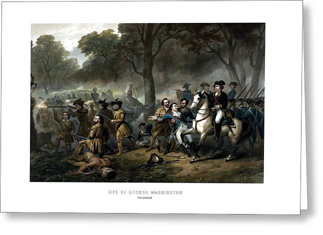 Life Of George Washington - The Soldier Greeting Card by War Is Hell Store