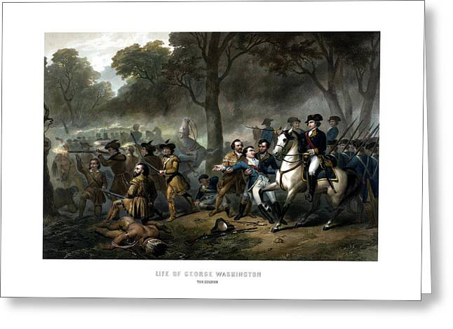 Revolutionary War Drawings Greeting Cards - Life of George Washington Greeting Card by War Is Hell Store
