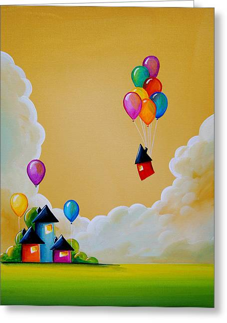 Balloons Greeting Cards - Life Of The Party Greeting Card by Cindy Thornton