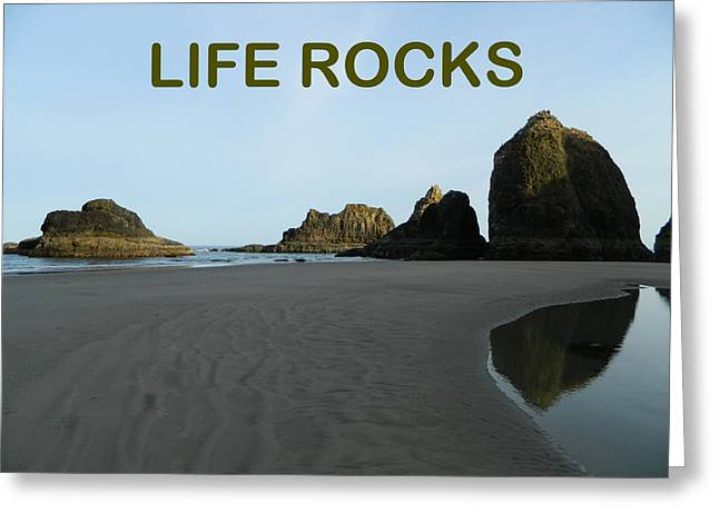Anti Greeting Cards - Life Rocks Greeting Card by Gallery Of Hope