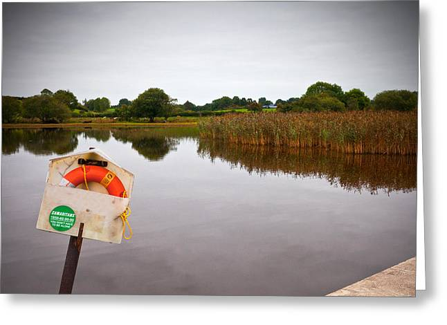 Lifebelt And Sign For The Samaritans Greeting Card by Panoramic Images