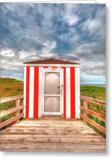 Lifeguard Hut Greeting Card by Elisabeth Van Eyken
