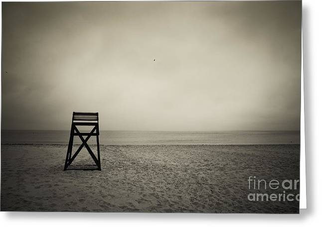 Drab Greeting Cards - Lifeguard Stand  Greeting Card by John Greim