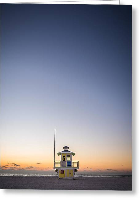Beach Photography Digital Greeting Cards - Lifeguard Tower #5 Greeting Card by Clay Townsend