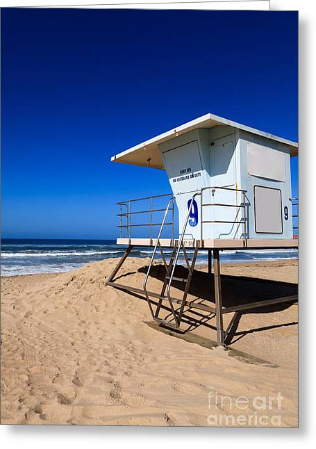 Shack Greeting Cards - Lifeguard Tower Photo Greeting Card by Paul Velgos