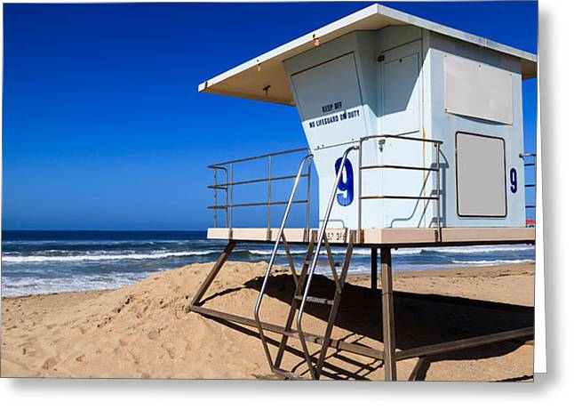 Lifeguard Tower Photo Greeting Card by Paul Velgos