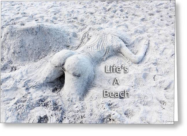 Life's A Beach By Sharon Cummings Greeting Card by Sharon Cummings