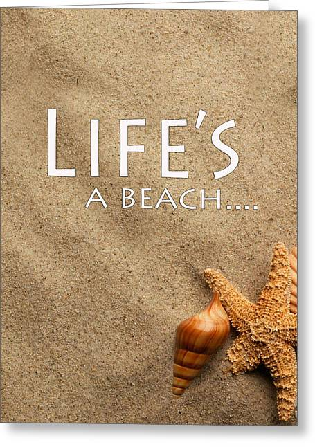Installation Art Greeting Cards - Lifes A Beach Greeting Card by Tina M Wenger