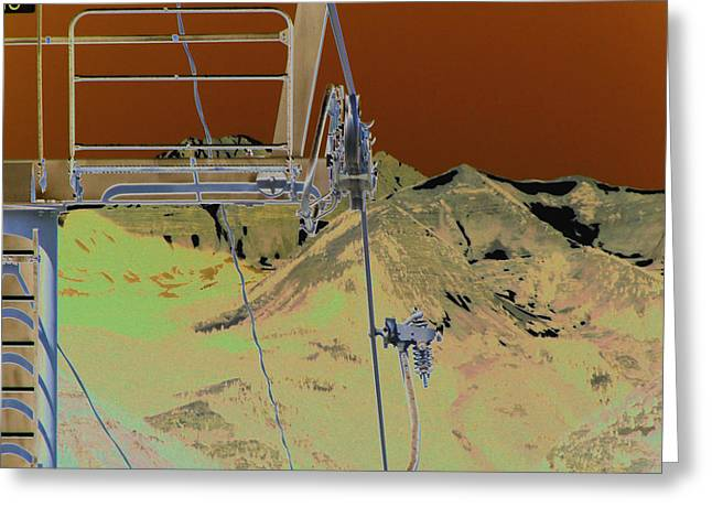 Ski Lift Greeting Cards - Lift 18 Greeting Card by Peter  McIntosh