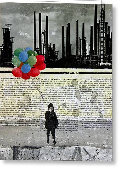 Polution Greeting Cards - Lift Me Up Greeting Card by Db Waterman