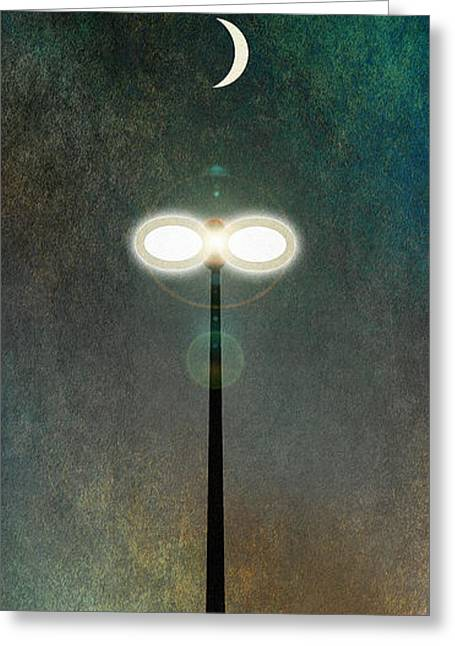 Streetlight Greeting Cards - Light 2 Greeting Card by WB Johnston