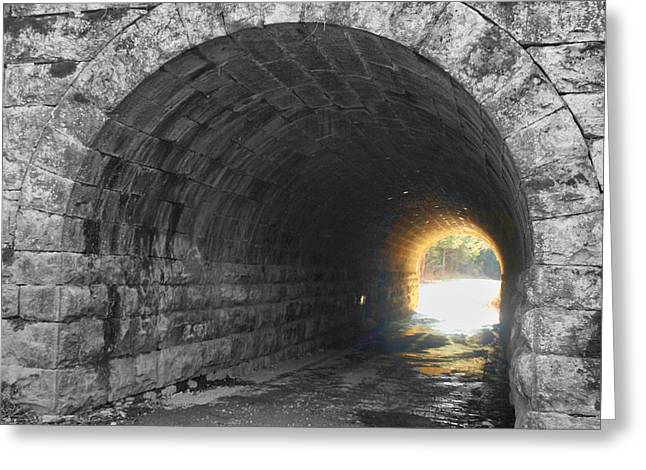 Light At The End Greeting Card by Kathy Jennings
