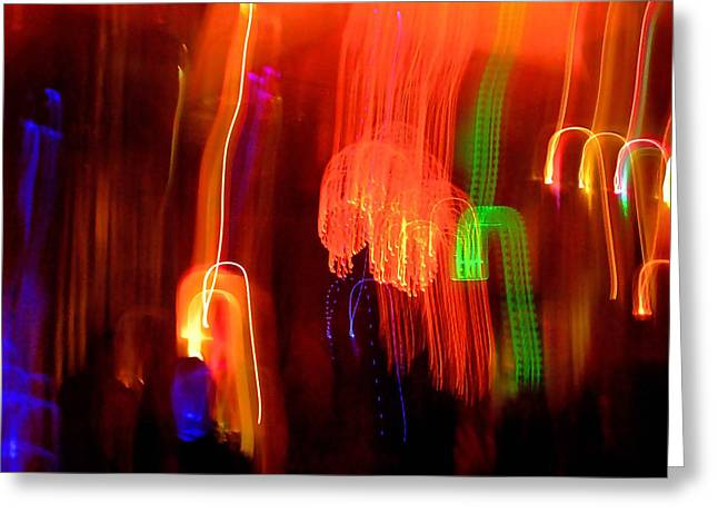 Abstract Digital Greeting Cards - Light Falling Greeting Card by Elizabeth Hoskinson