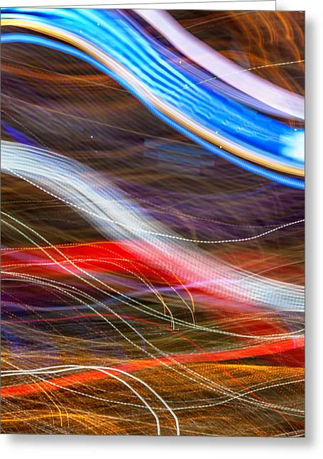 Abstract Waves Greeting Cards - Light Flow Greeting Card by Az Jackson
