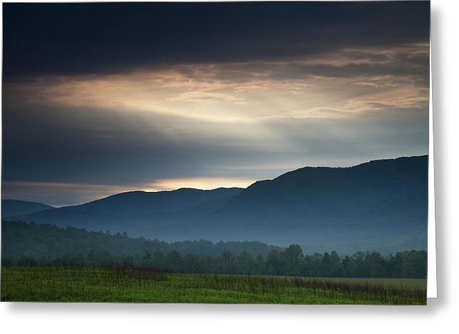 Light From Above Greeting Card by Andrew Soundarajan