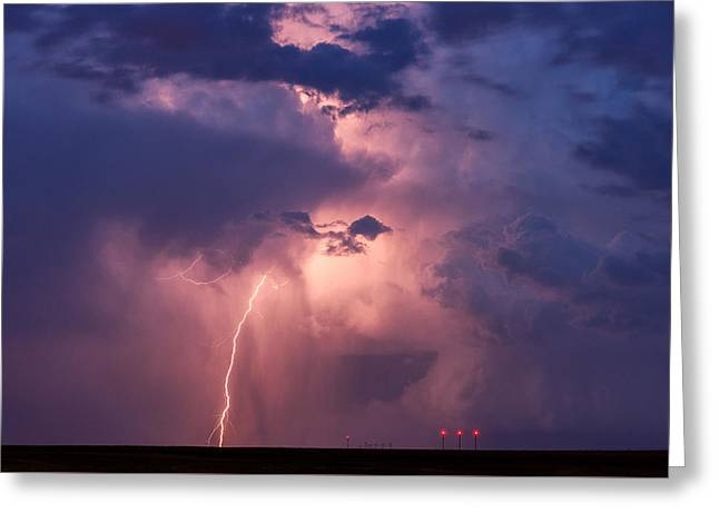 Storm Chasing Greeting Cards - Light from Within Greeting Card by Darren  White