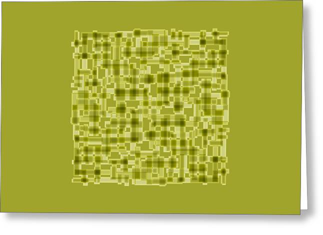 Light Green Abstract Greeting Card by Frank Tschakert