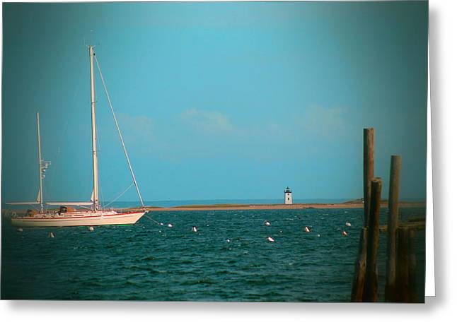 Fishing Boats Greeting Cards - Light house Greeting Card by Lenora Rodrigues