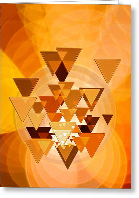 Transparency Geometric Greeting Cards - Light In Motion Greeting Card by Raymond Klein