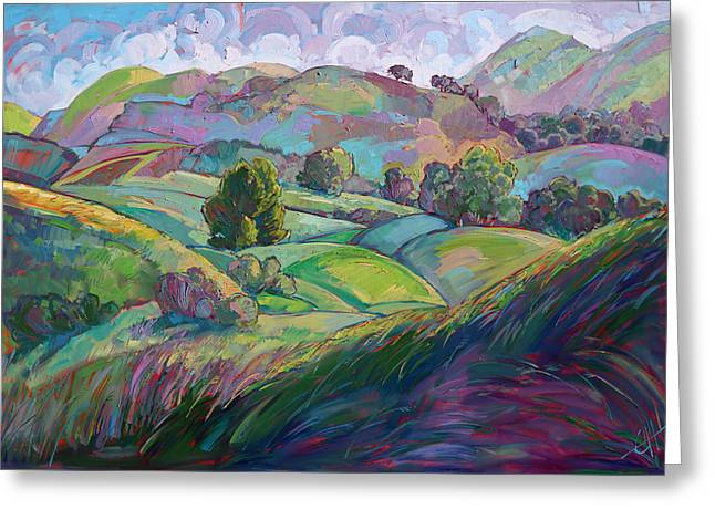 Erin Greeting Cards - Light in Spring Greeting Card by Erin Hanson