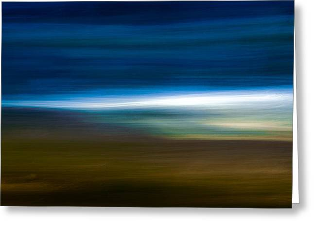 Panoramic Ocean Greeting Cards - Light In The Distance Greeting Card by Mah FineArt