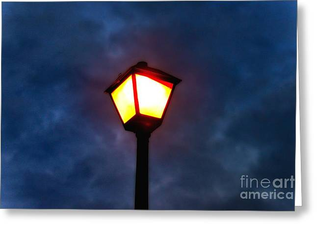 Night Lamp Greeting Cards - Light in the night Greeting Card by Igor Aleynikov