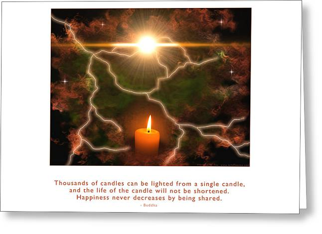 Metaphysics Greeting Cards - Light of a Single Candle Greeting Card by Kristen Fox