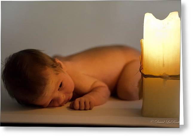 Candle Lit Greeting Cards - Light of Life Greeting Card by David LaRochelle