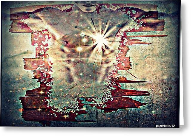Light Of The Heart Greeting Card by Paulo Zerbato