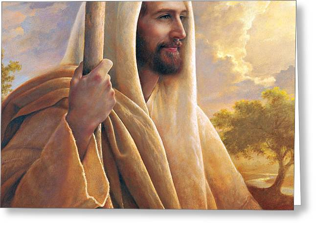 Light of the World Greeting Card by Greg Olsen
