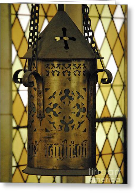 Church Fixture Greeting Cards - Light of the World Greeting Card by Jost Houk