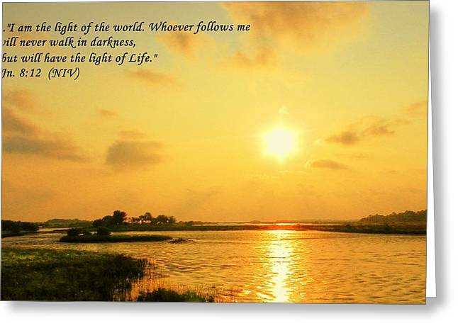 Cedar Key Greeting Cards - Light of the World Greeting Card by Sheri McLeroy
