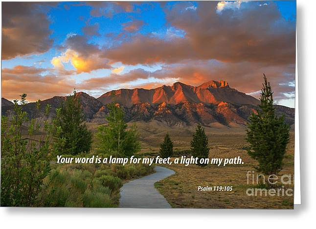 Christian Bale Greeting Cards - Light On My Path Greeting Card by Robert Bales