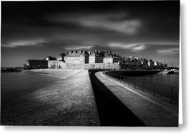 Saints Greeting Cards - Light On Saint-malo Greeting Card by Puget Kevin