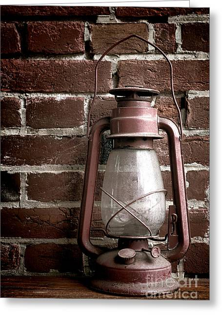 Kerosene Lamp Greeting Cards - Light Past Greeting Card by Olivier Le Queinec