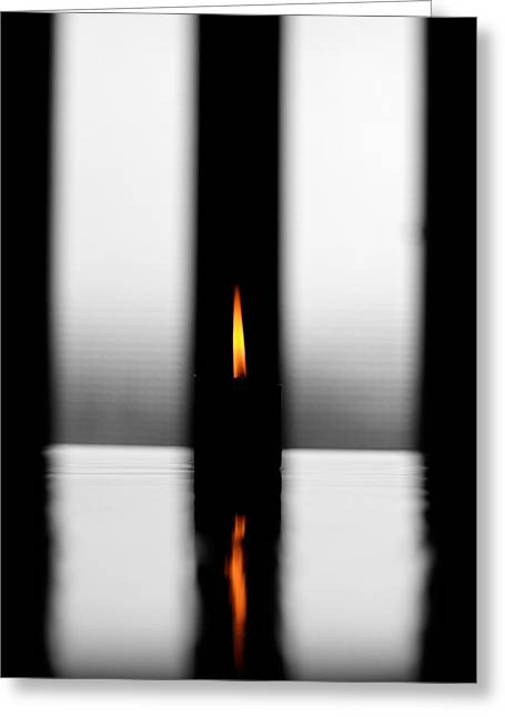 Candle Lit Greeting Cards - Light Reflections Greeting Card by Igor Fracellio