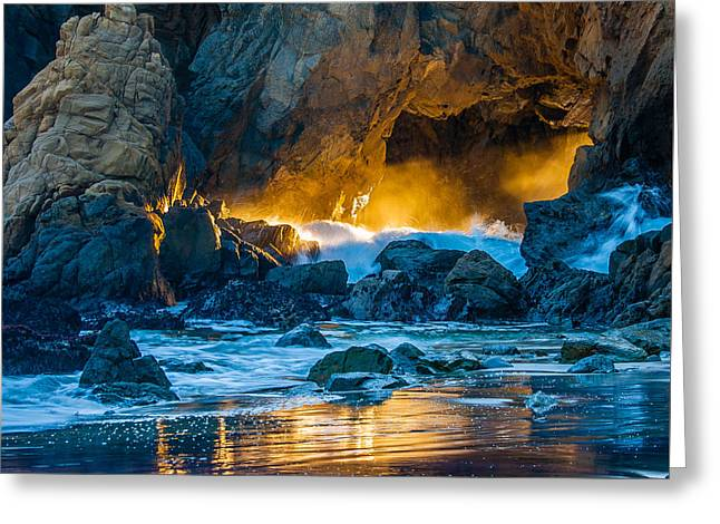 Light Reflections Greeting Card by Mark Christian