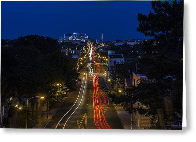 North Point Greeting Cards - Light Ribbons Greeting Card by CJ Schmit
