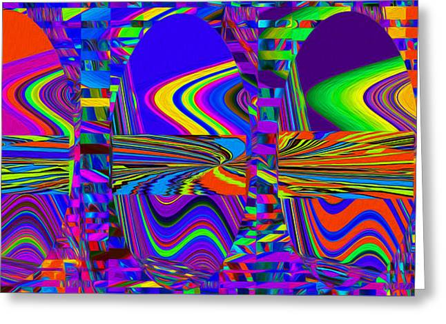 Abstract Movement Greeting Cards - Light Rings Greeting Card by Phillip Mossbarger