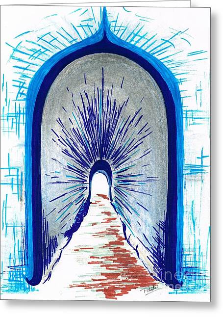 Secrecy Drawings Greeting Cards - Light shining through Greeting Card by Teresa White