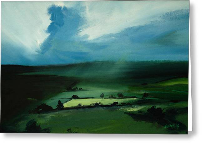 Neil Mcbride Greeting Cards - Light Squall Greeting Card by Neil McBride