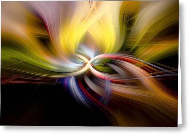 Light Swirl Greeting Card by Debra and Dave Vanderlaan