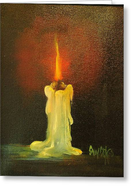 Candle Lit Paintings Greeting Cards - Light the Way Greeting Card by Sally Seago