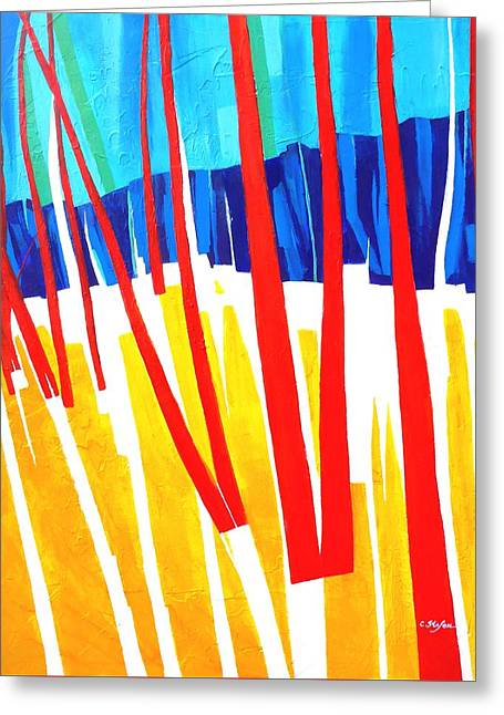 Recently Sold -  - Abstractions Greeting Cards - Light through the Trees Greeting Card by Cristina Stefan