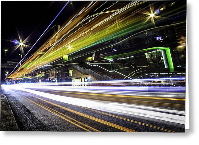 Light Trails 1 Greeting Card by Nicklas Gustafsson